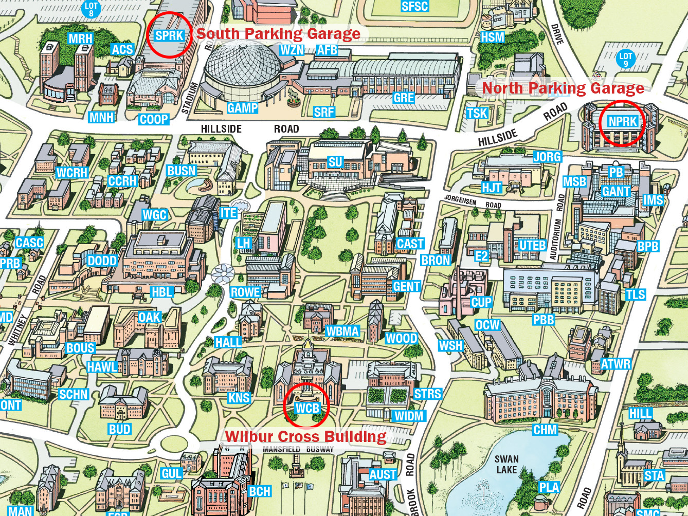 Directions To University Of Connecticut Storrs Campus And