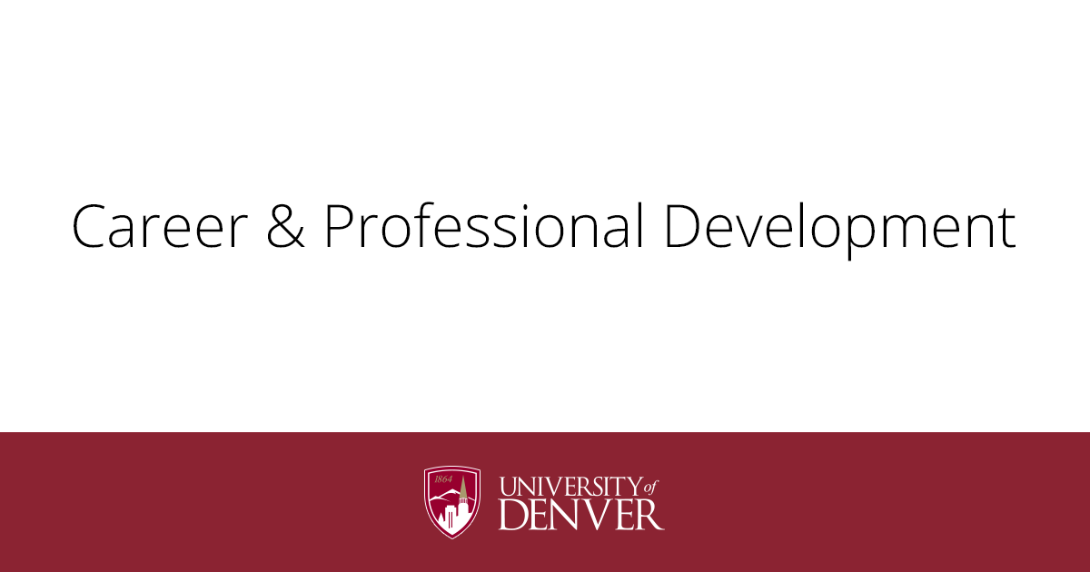 Career & Professional Development | University of Denver