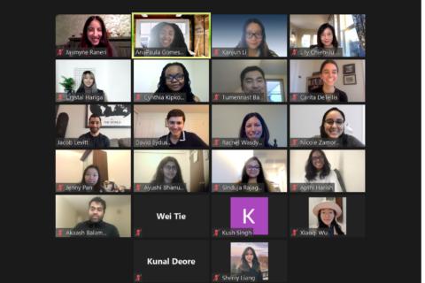 Zoom gallery view of Adobe Industry Trek participants