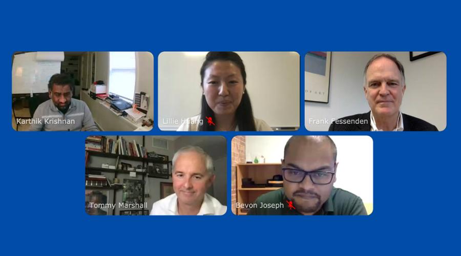 screen shots of Boston FinTech Week panelists