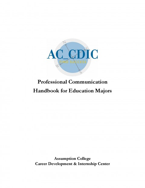Professional Communication Handbook for Education Majors