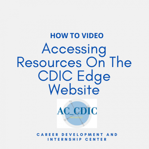 HOW TO VIDEO: Accessing Resources On The CDIC Edge Website