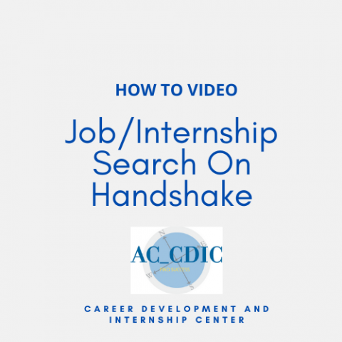 HOW TO VIDEO: Job/Internship Search On Handshake