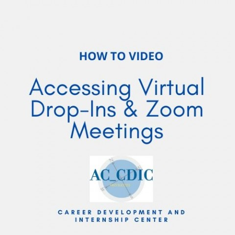 HOW TO VIDEO: Accessing Virtual Drop-Ins & Zoom Meetings