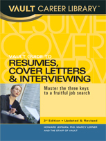 Vault Guide to Law Resumes
