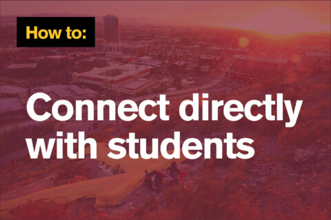 How to connect with students