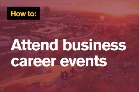 How to attend business career events
