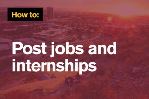 How to post jobs and internships