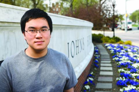 Portrait of freshman BME Nathan Wang
