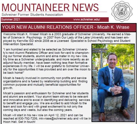 Spring 2021 Mountaineer News – Schreiner University's Alumni Newsletter