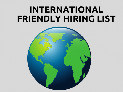 International Friendly Hiring List