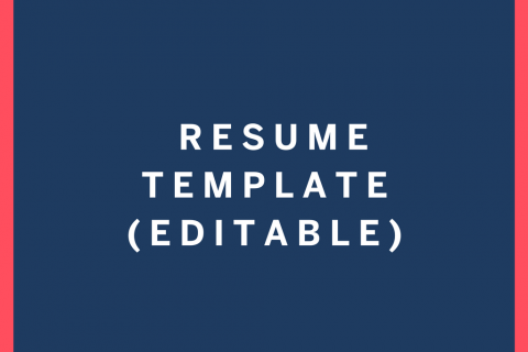Awesome Resume Template Editable
