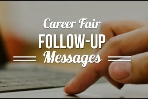 career fair follow up