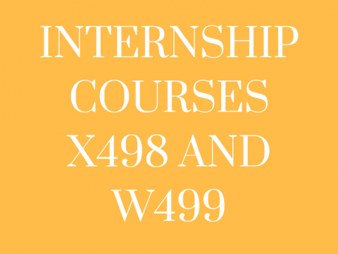 Internship Courses (X498/W499)