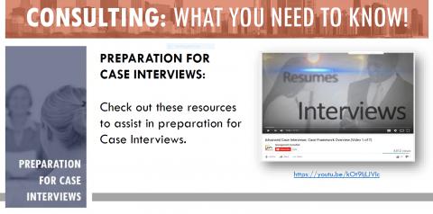 Preparation for Case Interviews