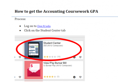 Finding Accounting Coursework GPA