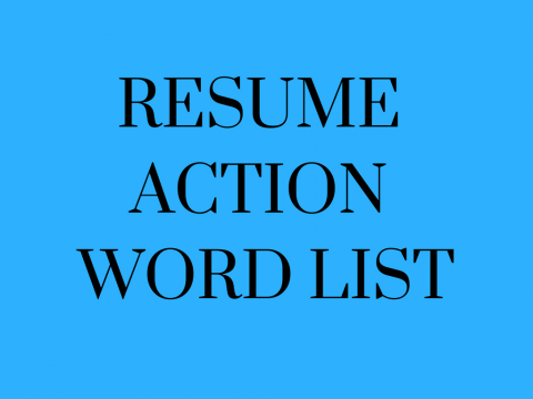 resume action words list