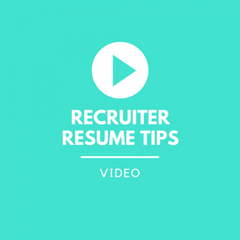 Videos: resume from the recruiter perspective
