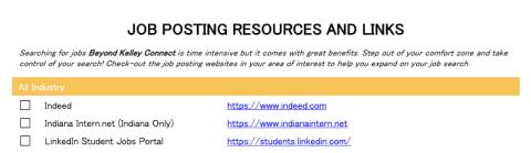 Job Posting Resources and Links