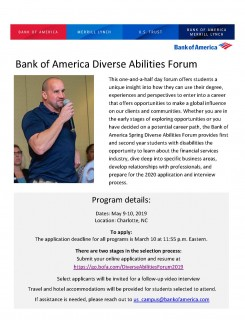 Diverse Abilities Forum Marketing Flyer