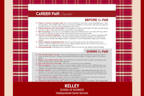 Career Fair Checklist
