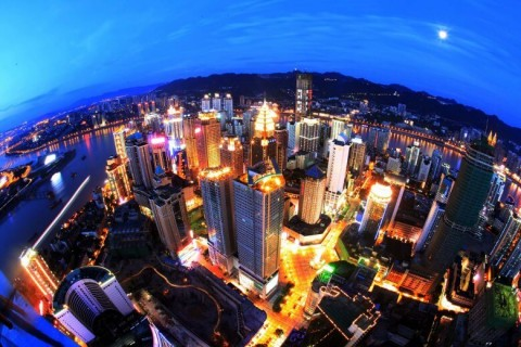 China-Night-Chongqing-Yuzhong