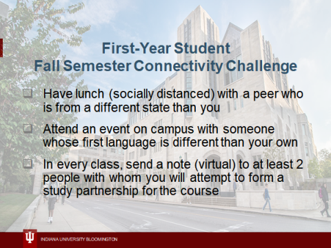 First-Year Student Fall Semester Connectivity Challenge