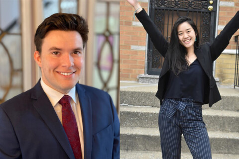 Two MIT students who were selected as Truman Scholars.