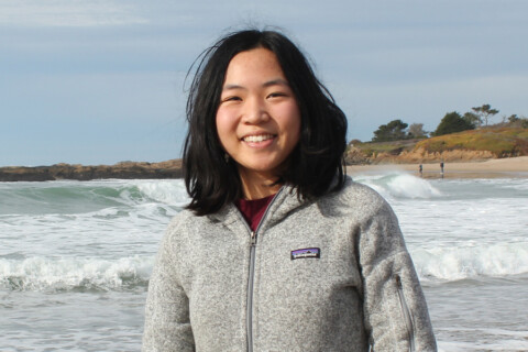 MIT student Amy Jin smiles at the camera.