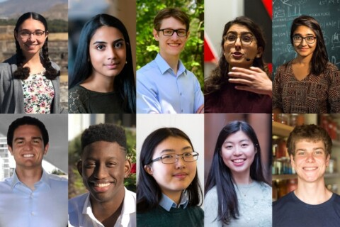 The headshots of 10 MIT students selected as Fulbright award winners.
