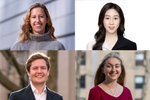 Collage of the four 2020 Schwarzman recipients.