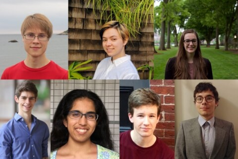 The headshots of 7 MIT students selected as Hertz Fellowship recipients.