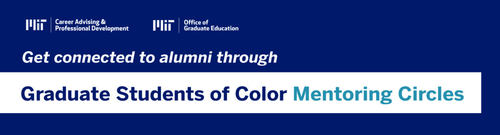 Get connected to alumni through Graduate Students of Color Mentoring Circles