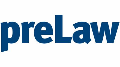 preLaw logo in blue