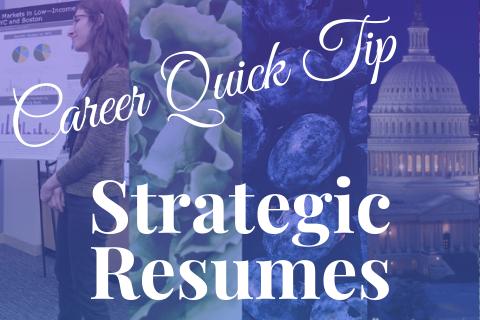 Career Quick Tip Strategic Resumes