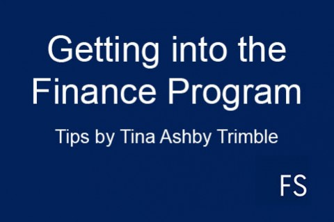 Getting into the Finance Program