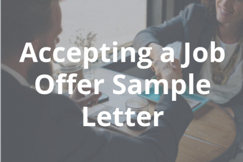 accepting a job offer sample letter business career center smeal college of business