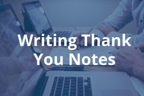 writing thank you notes business career center smeal college of
