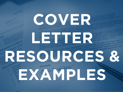 Cover Letter Resources & Examples