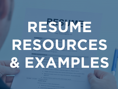 Resume Resources & Examples