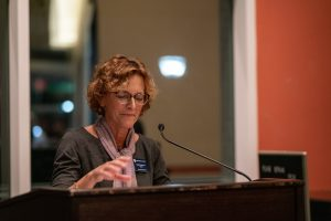 The Dean of the School of Liberal Arts, Dr. Karen Ryan, speaking at last year's event.