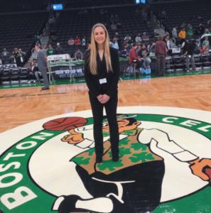 Lauren at her 2019-2020 Boston Celtics internship
