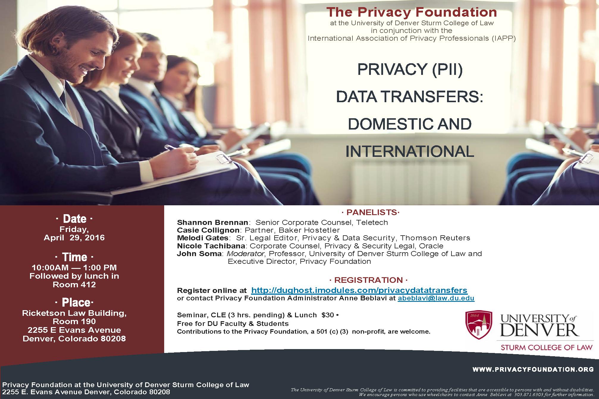 PRIVACY (PII) DATA TRANSFERS flier