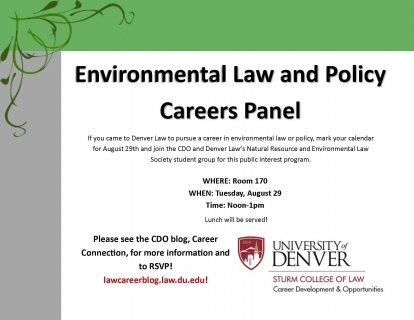 Environmental Law and Policy Program Flyer
