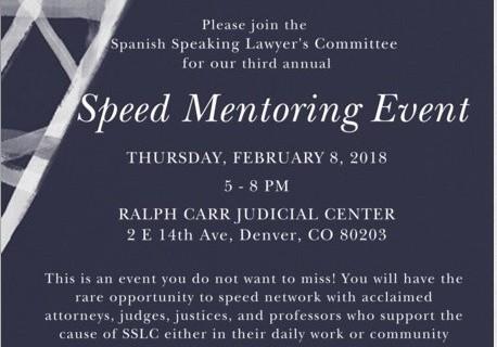 SSLC Speed Mentoring Event Flyer