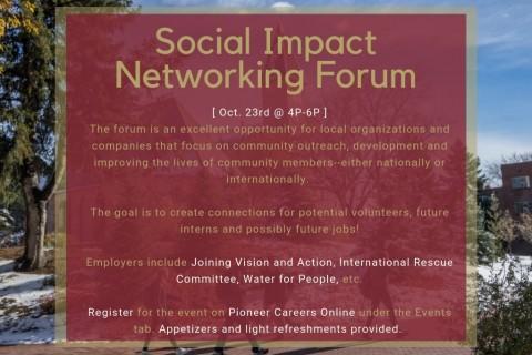 2018 Social Impact Networking Forum