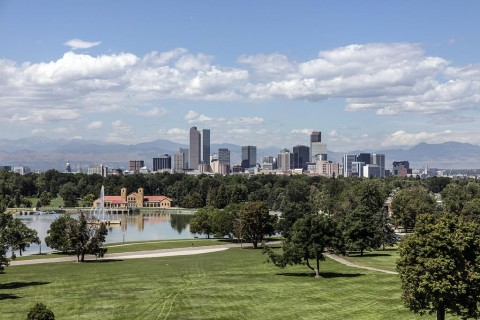 6. Denver Skyline over City Park