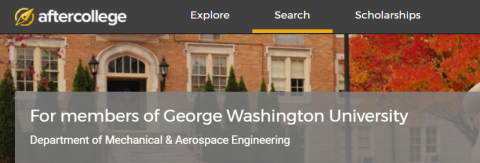 GWU Department of Mechanical & Aerospace Engineering Career Network