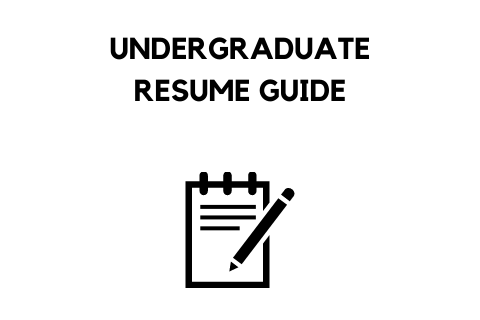 STEM Undergraduate Resume Writing Guide