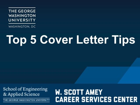 Top 5 Cover Letter Tips (VIDEO)